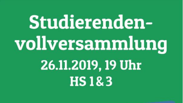 Einladung Studierendenvollversammlung